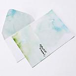 Watercolor letter set envelope 2 envelope(16.2*11.4CM)4 notepaper(15.9*22CM),random color