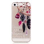 TPU High Purity Translucent Openwork Dreamcatcher Pattern Soft Phone Case for iPhone 5/5S/ SE
