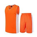 남성의-통기성 / 빠른 드라이 / wicking-민 소매-레저 스포츠 / 배드민턴 / 농구 / 달리기-의류 세트/수트(그린 / 밝은 블루 / 오렌지)