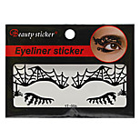 Abstract Fashion Lace Hollow Black Face Sticker YT-006