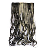 Black and Golden Length 60CM Synthetic Five CARDS and Hair Long Curly Hair Three Wigs(Color 4AH613)