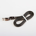 Quick Charge Noodles Snake skin USB 2.0  Charger cable Cord for Samsung Android Amartphone Aeneral Aable (0.25 M)