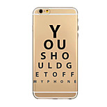 Cool Word Phrase Pattern TPU Soft Cover Case for iPhone 6/iphone 6 plus