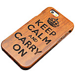 Pear Wooden Empire Keep Calm and Carry On Carving Hard Protective Back Cover iPhone Case for iPhone SE/iPhone 5S/5