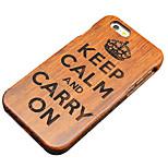 pera impero in legno a mantenere calma e vai avanti intaglio caso della parte posteriore dura protettiva della copertura iphone di iphone