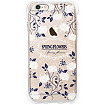 Full Body Case Transparent Body Flower TPU Soft Airbag AntifallCase Cover ForApple iPhone 6s Plus/6 Plus / iPhone 6s/6