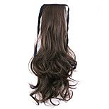 Borwn Length 50CM Factory Direct Sale Bind Type Curl Horsetail Hair Ponytail(Color 40A/30B)