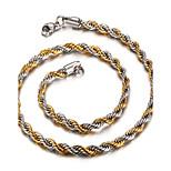 Муж. Женский Ожерелья-цепочки Нержавеющая сталь 18K золото Мода Бижутерия Назначение Повседневные