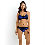 Women's Swimwear Quick Dry / Compression Bikinis Adjustable Blue/Black S / M / L