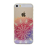 Through Sunflowers Color Pattern TPU Soft Case Phone Case for iPhone 5/5S/SE
