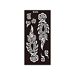 1pc Airbrush Body Art Rose Flower Glitter Henna Stencil Tattoo Temporary Tattoo Sticker Template S222