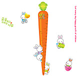 40-135Cm Radish Height Stickers Kids Children's Bedroom Cartoon Lovely Rabbit Wall Decals Kindergarten Wall Art