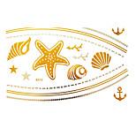 -Tattoo AufkleberAirbrush-Tattoo Schablonen- fürDamen / Erwachsener-Gold-Papier-1Stück -23*15*0.3