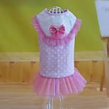 Sweety Bowknot Lace Pet Dress