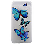 TPU Material Matte Border Blue Butterfly Super Relief Effect Phone Shell Protection for Samsung Galaxy S7/S7 edge