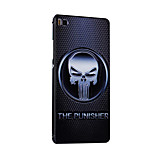 Metal Frame Protective Shell Hard  Painting for HUAWEI P8 (Black Box + Skull)