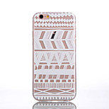 TPU White Striped Pattern Soft Transparent Back Case for iPhone 6s 6 Plus