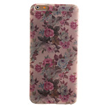 TPU Material + IMD Crafts Perfect Fit Peony Pattern Soft Cellphone Case for iPhone 6/6S/6 Plus/6S Plus