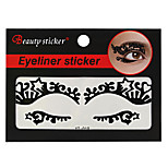 Abstract Fashion Lace Hollow Black Face Sticker YT-019