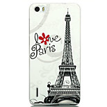 Ultra-thin Cartoon Protection Matte Relief For Huawei honor6(Paris Tower)