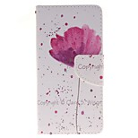 Purple Orchid Card Holder Wallet PU Leather Phone Case for Huawei P9/P9lite