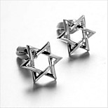 Men's Fashion Star Silver Alloy French Shirt Cufflinks (1-Pair)