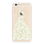 Kakashi Lace Printing TPU Painting Soft Case for iPhone 6s / 6 /6s Plus / 6 Plus(Angel Beauty)
