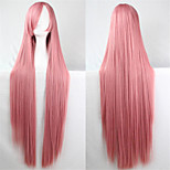 Europe And The United States The New Color Wig 100CM High Temperature Smoke Pink Silk Long Straight Hair Wig