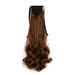 Curly Medium Golden Blonde Synthetic Bandage Type Pear Hair Wig Ponytail