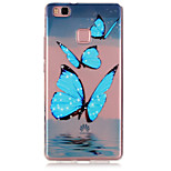 Blue Butterfly Pattern TPU Material Phone Case for Huawei P9/P9 Lite