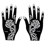 2pcs Flower Lace Pattern Henna Airbrush Stencil Tattoo Body Temporary Tattoo for Hand Art Sticker S105