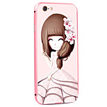 Cuckoo Girl Pattern Metal Frame PC painted  Hard Case for iPhone6/6s/6 Plus/6s Plus