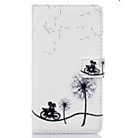Small Bicycle Pattern PU Leather Material Phone Case for Huawei Ascend P9 Lite/ P9