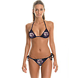 FuLang  Bikinis Set   Beach swimsuit    fashion    personality   sexy  backless  Star Tiger PrintSC055