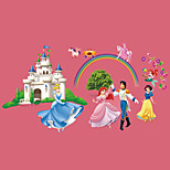 Fairy Tale World Snow White Prince Castle Wall Stickers DIY Children's Bedroom Wall Decals