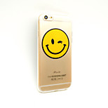 Smile Painting Shockproof Transparent TPU Soft Phone Case for Iphone(Assorted Colors)