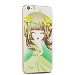 kakashi serie princesa de la flor TPU pintura caso suave para el iphone 6s / 6 / 6s más / 6 más (jazmín de invierno)