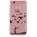 Faith Pattern TPU Material Phone Case for Huawei P9/P9 Lite