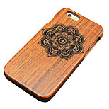 Pear Wooden Symmetric Flower Carved Protective Back Cover Hard iPhone Case for iPhone 6S Plus/iPhone 6 Plus/6s/6