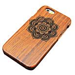 pera di legno fiore simmetrico intagliato custodia protettiva copertura posteriore dura iphone per il iphone 6S plus / iphone 6 plus / 6S