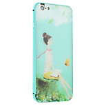 Book girl Pattern Metal Frame PC painted  Hard Case for iPhone6/6s/6 Plus/6s Plus