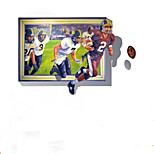 Cartoon / People Sports  Football  Wall Stickers Abstract / Fantasy  3D Wall Stickers Plane Wall Stickers,pvc 100*70cm