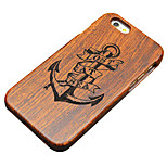 Pear Wooden Lost at Sea Anchor Carving Protective Back Cover Hard iPhone Case for iPhone 5S/iPhone SE/iPhone 5