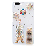 Rhinestone Hard Back Cover for Huawei Honor 6Plus(white - tower perfume)