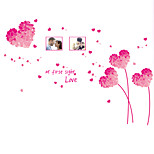 Wedding Romance Love Wall Decals Pink Heart Grass Photo Stickers PVC Bedroom Wall Stickers