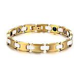 Men's Jewelry Health Care Gold Tungsten Steel Magnetic Bracelet