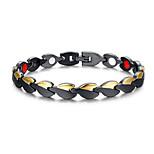 Men's Jewelry Health Care Black Stainless Steel Magnet Bracelet