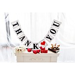 Popular White with Black Writing THANK YOU Banner Wedding Engagement Party Garlands Bunting Photo Prop