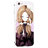 Dandelion Girl Pattern Metal Frame PC painted  Hard Case for iPhone6/6s/6 Plus/6s Plus