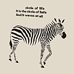 Creative Wall Art Black ZEBRA Wall Stickers New Fashion Animals Living Room Wall Decals